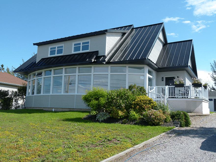 Construction unifamiliale avec solarium
