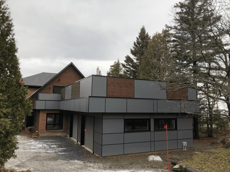 Rénovation d'une propriété avec un garage double