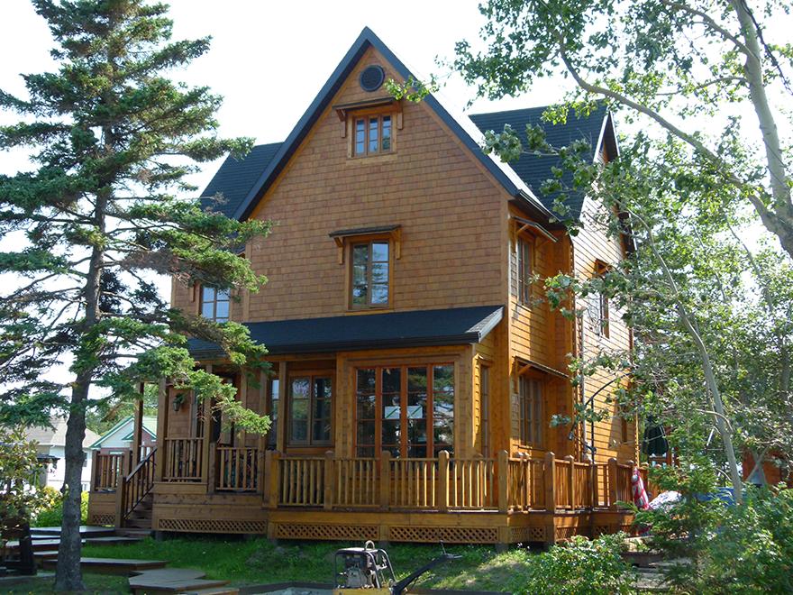 Construction rédisentielle en bois